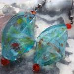 Twisted Turquoise Glass Bea..