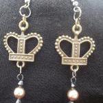 Crown and Pearls Earrings
