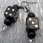 Black Dice Earrings