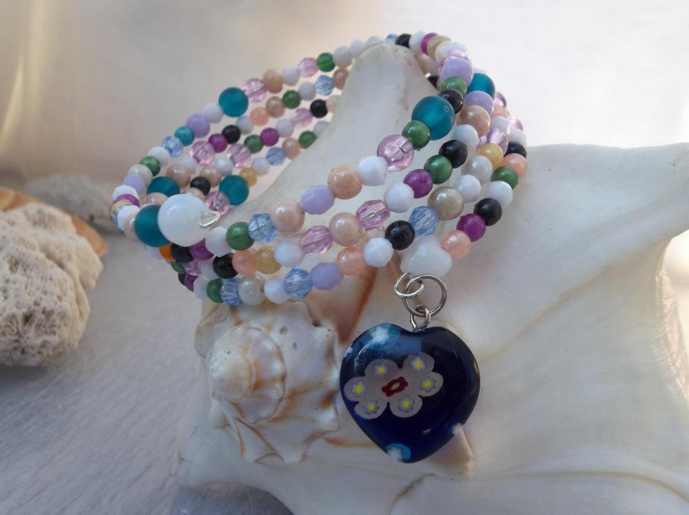 Spring in Pastels Bracelet (and Millefori Charm)