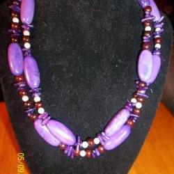 Double Purple Necklace